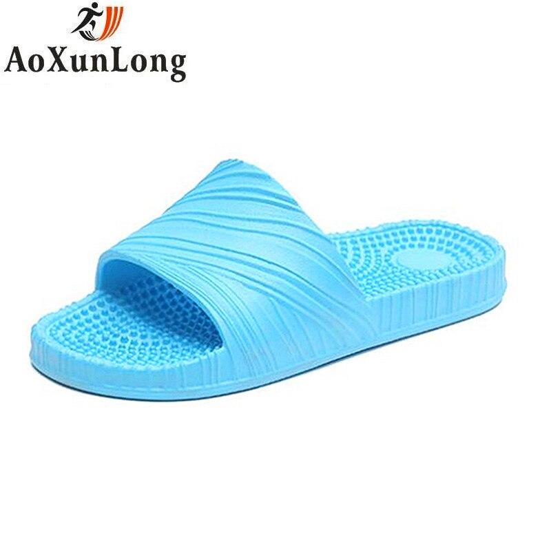 AoXunLong Для женщин Летние тапочки массажные тапочки женские домашние тапочки женские шлепанцы s на платформе шлепанцы Pantoufle