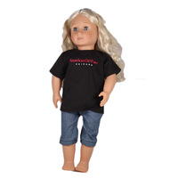 Doll Clothes American Girl Black T-shirt Jean Pants Sets American Girl Doll Clothes For 18 Inch Doll AG924