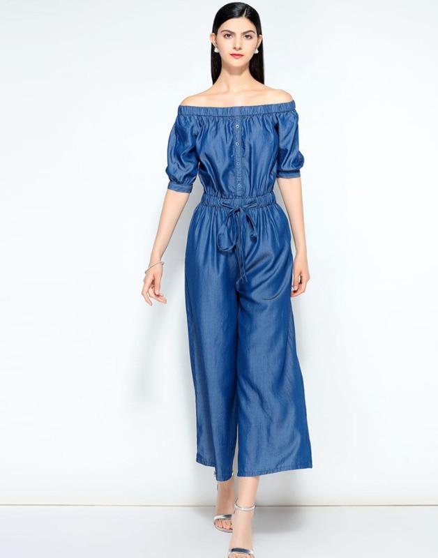 32156cbc21 Femmes -100-Tencel-denim-Combinaisons-D-t-off-paule-Large-Jambe-Jeans-Combinaisons- Dames-taille-lastique.jpg