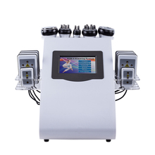 6 In 1 40K Ultrasonic Cavitation Vacuum Radio Frequency Laser 8 Pads lipo Slimming Machine for home use 2019 New Arrival