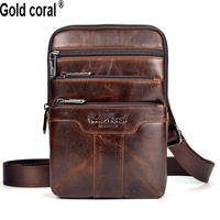 New Arrival Guarantee Genuine Leather Men Messenger Bags Casual Business Small Shoulder Bags For Men Cross