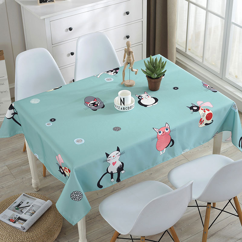 Stain Table Cloth Cotton oilcloth Waterproof Tablecloth For Rectangular Dining Table Home Party Hotel Table Decoration Cloth in Tablecloths from Home Garden