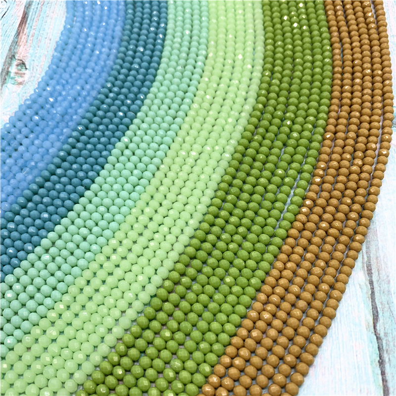 Glass Beads Jewelry Crystal Rondel Loose-Spacer Wholesale 6mm for Diy 4x6mm/50pcs