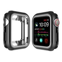 SANYU 6 Colors TPU Protective Case For Apple Watch Band 40mm 44mm Cover Watch Protect Cases For iWatch Series 4