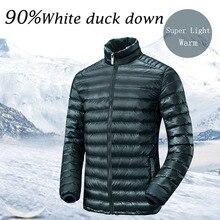 Sinterklaas Lesmart Men's Lightweight Down Jacket 90% White Duck Down Ultralight Windproof Water-resistant Warm Down Filled  Winter Coat