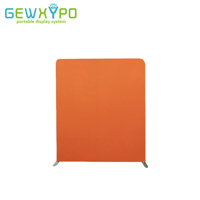 200*228cm Tension Fabric Banner Straight Backdrop Stand With Printing,Portable Exhibition Booth Easy Fabric Unit Display Wall
