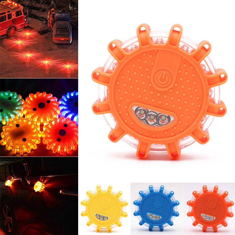 Newly LED Traffic Warning Light Strong Magnetic Safety Road Flare Emergency Lights DC128