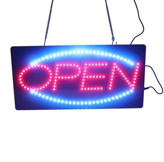 Shop Open Sign Lights: RECTANGULAR REAL GLASS BRIGHT NEON OPEN SIGN / LIGHT NOT