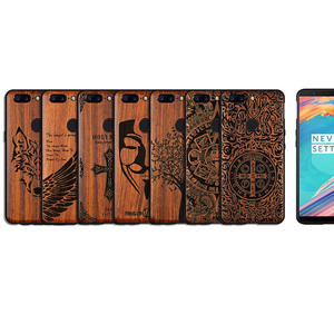 Image 5 - Oneplus 5 tケースboogicオリジナルリアルウッドfunda oneplus 6ローズウッドtpu耐震バックカバー電話シェルワンプラス6ケース