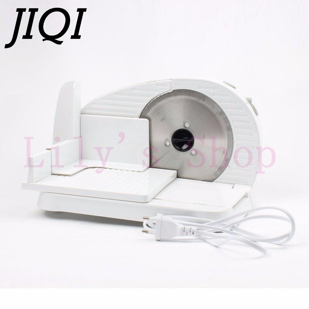 JIQI Mini cortadora de carne eléctrica automática, picadora de rodillo de cordero congelado, picadora de alimentos, carne de cordero, cortadora de pan vegetal