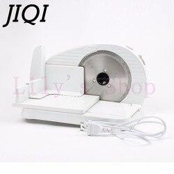 Jiqi automático mini elétrico cortador de carne de carneiro congelado rolo moedor alimentos picador carne cordeiro máquina corte cortador pão vegetal