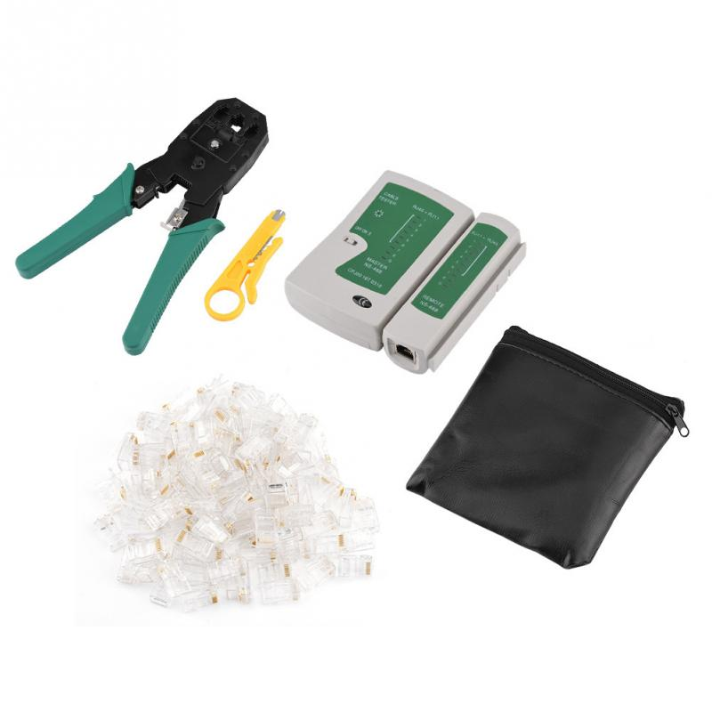 Portable Network Cable Tester Kit Cable Tester&Wire Crimp Pliers Wire Stripper Tools Set