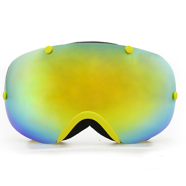 Copozz поляризационные лыжные очки 2 двойные линзы UV400 Анти-туман большой Лыжная очки лыжи Сноубординг очки желтый