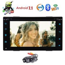 "Android 7.1 Octa Core 2Din Car Stereo Radio Bluetooth GPS Navigation 6.2"" Support WIFI 4G MirrorLink AUX USB SD DVR+Back Camera"