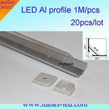 HKS LED профиль 1 м анодированного алюминиевого профиля для Свет Бар Полки угол света 20 м/лот