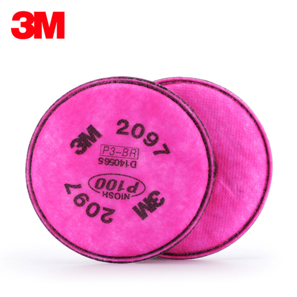 3M 2097 Gas Mask Filter High Quality Respirator Mask Filter Against Painting Spraying Glass Fiber PM2.5 Industrial Safety Filter 3m 7502 mask 2097 filter genuine high quality respirator face mask painting graffiti polished respirator gas mask