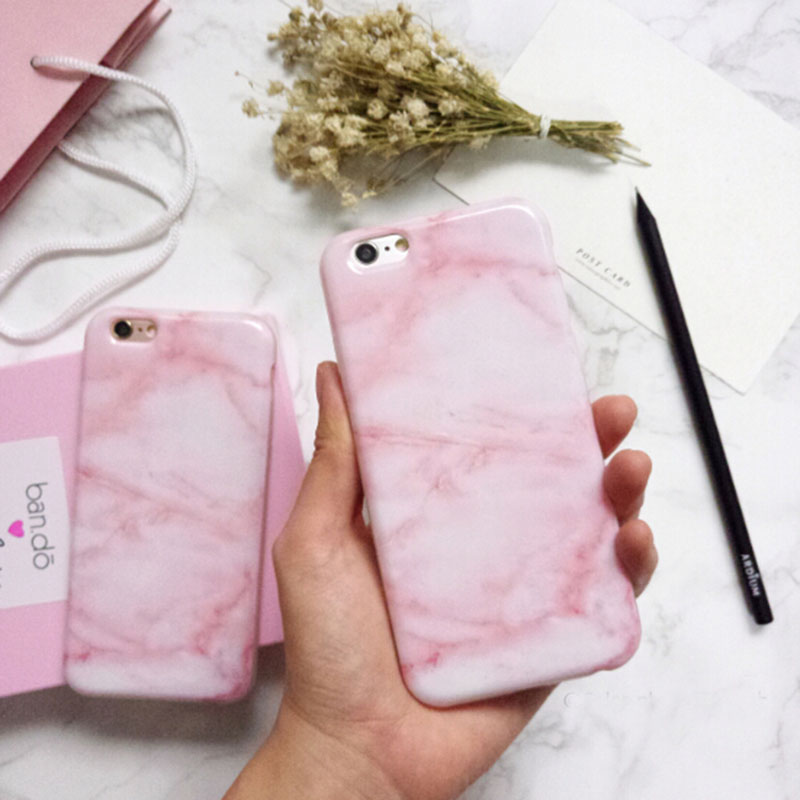 Hot Sale illusional Glossy Granite Pink Marble Phone Case for iPhone 6 6s  Plus Soft TPU Silicon Funda Cases Back Cover on Aliexpress.com  321259000