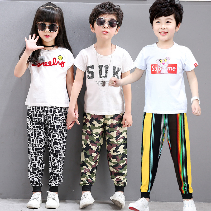 41d2c5bc6a 2018 Spring Summer Fall Kids Harem Pants For Boys  Girls Floral Print  Trousers Unisex Clothing Pants