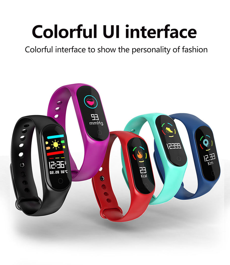 COLMI M3S Smart Bracelet Color-screen Fitness Tracker blood pressure Heart Rate Monitor sleep tracker Wristband For Android IOS 3