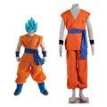 Dragon Ball Super Saiyan Deus Super Saiyajin Goku Kakarotto Cosplay SSGSS Traje Tempo Patrulheiro Marca Fato de Treino