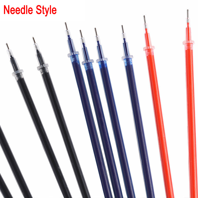 DELVTCH 0 5mm 20pcs 1Pen Gel Pen Refill Needle tip Office Signature Pen Rods Red Blue Black Ink Office School Stationery Supply in Gel Pens from Office School Supplies