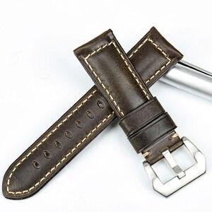 Image 2 - MAIKES אביזרי שעון 20mm 22mm 24mm 26mm watchbands איטלקי עור שעון רצועת עבור Luminox Panerai שעונים להקה