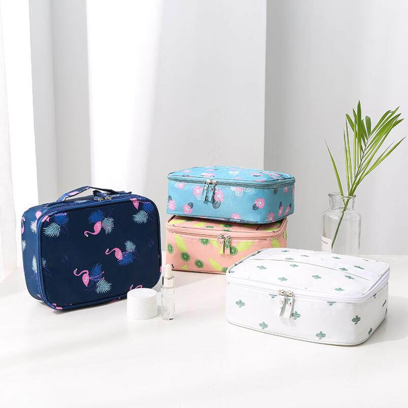 Image 3 - Korean Style Travel Cosmetic Supplies Portable Receipt Bag Portable Travel Lady Wash Bags Suitcase Organizer Hand Held Storage-in Storage Bags from Home & Garden