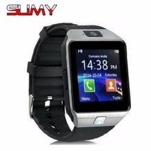 Ограниченное предложение Слизняк Bluetooth Smart часы DZ09 шагомер спортивные анти-потерял с Сенсорный экран Камера TF карты для Android PK GT08 A1 smartwatch