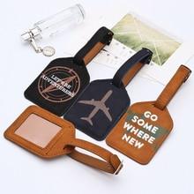 Кожаная бирка для чемодана, сумка для этикеток, подвесная сумка, портативные аксессуары для путешествий, ярлыки для идентификационных адресов