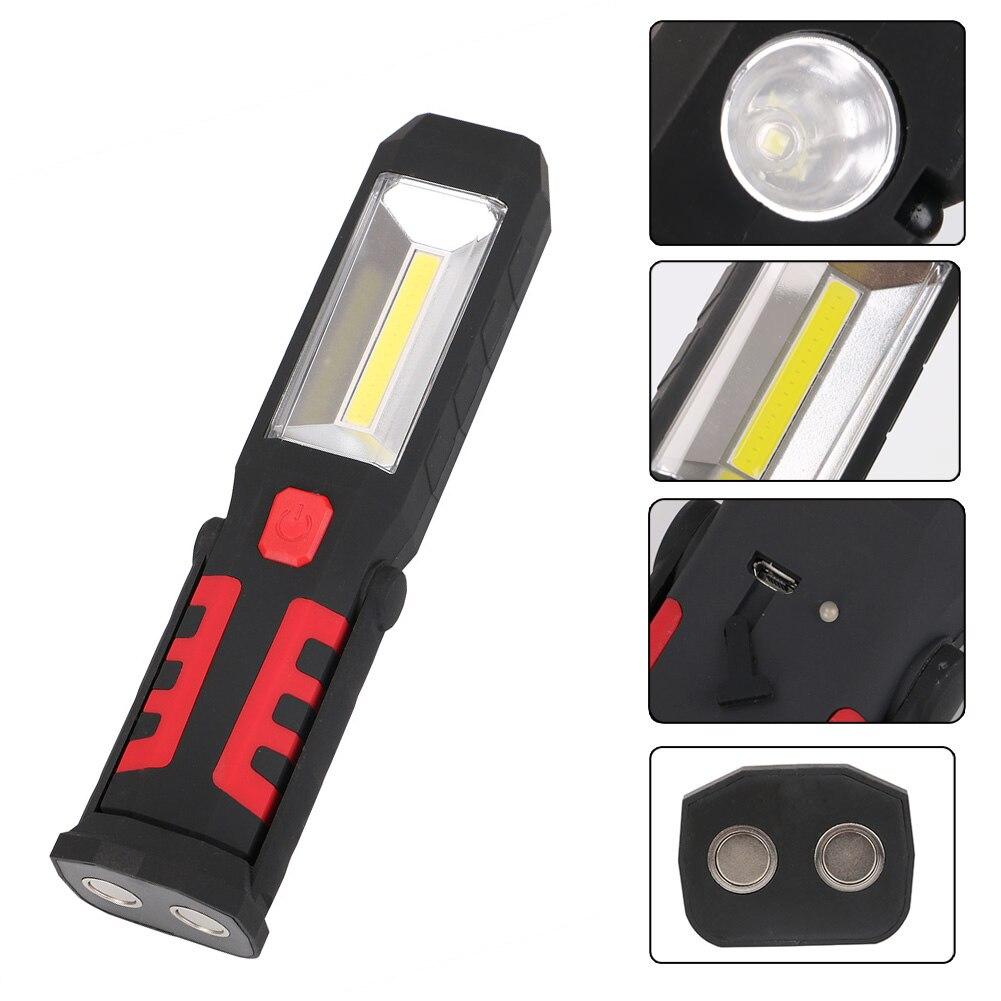 COB LED de Travail Magnétique Lumière De Voiture Garage Mécanicien Maison Rechargeable Torche Lampe-M25