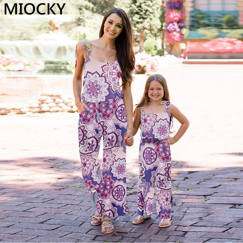 NASHAKAITE-Family-matching-clothes-Bohemian-Print-Shoulder-Bandage-Jumpsuit-Mommy-and-me-Jumpsuits-Mother-and-Daughter (4)