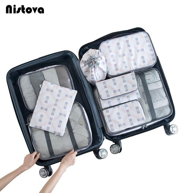 f0033cbb6 8 set organizador Unidades de viaje, bolsas de compresión de cubo de malla  resistente al