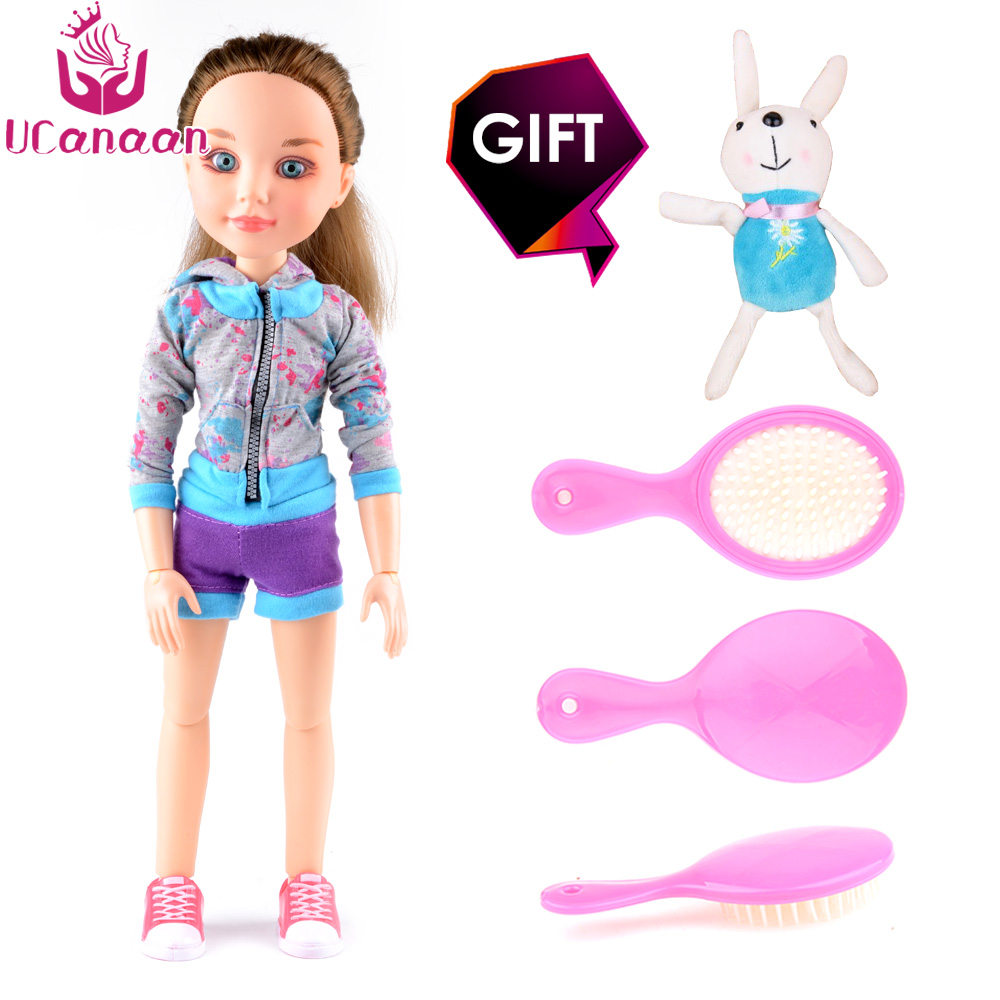 UCanaan Doll 18 inches Princess Girl Dolls Joint Body Realistic Real bjd Dolls Reborn baby Toys Birthday Gift As American Girl american girl dolls pajamas girl doll accessories princess doll clothes fit 18 inches clothes baby birthday christmas gift zk12