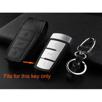 3 Buttons Remote Key Fob Holder Shell Cover Case Leather For VW Passat CC Magotan