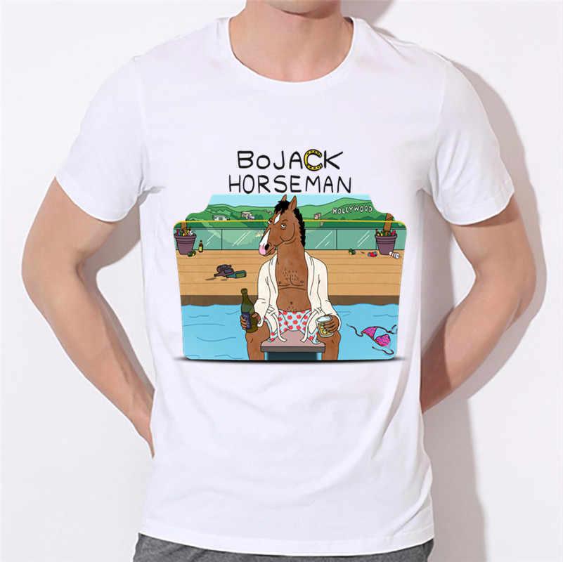 98de08bc Ready Stock,Men's Anime Bojack Horseman Funny Design T-shirts Summer Short  Sleeve O