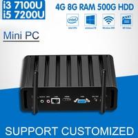 7th Gen Intel Core I3 7100U I5 7200U Mini PC Windows 10 Linux Mini Office Computer
