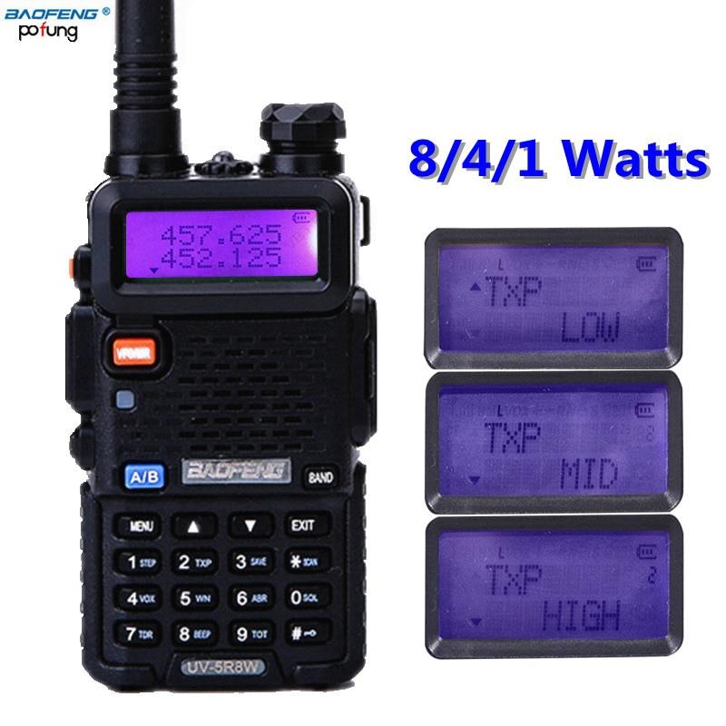 2018 Baofeng UV-5R Haute Puissance 8 w Puissant talkie-walkie Radio Bidirectionnelle de Jambon 8 Watts cb 10 km longue portée de BF UV5R