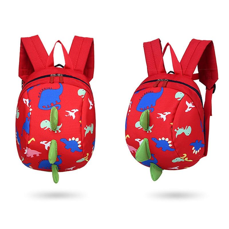 Children Backpack Nylon Waterproof Cartoon Dinosaur Anti Lost Kindergarten School Bags For 0-3 Years Kids Boys Girls WML kids cartoon baby girls plush cotton school bags children stuffed plush toys backpack rucksack for kindergarten