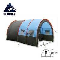 5-8 persona Grande Campeggio All'aperto Tenda a Tunnel Tende Impermeabili per la Famiglia di Viaggio Trekking Caccia Pesca Del Partito In Fibra di vetro