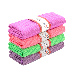 3pcs/lot Soft Microfiber Cleaning Towel Household Kitchen Absorbable Glass Kitchen Cleaning Cloth Car Dish Towel Window Clean(China)