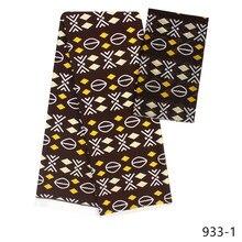 wholesale imitated silk fabric digital printed ankara African wax pattern 4 yards audel +2 chiffon for dress