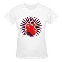 RTTMALL 2017 European Minimalist Character Letter Print T Shirt Short Sleeve Round Neck A Cherry And
