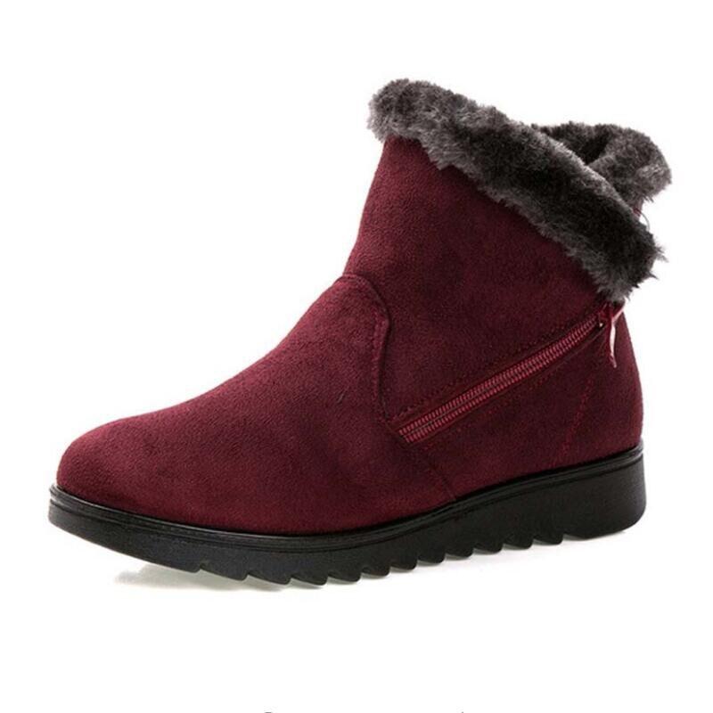 Frauen Stiefeletten Neue Mode Wasserdicht Keil Plattform Winter Warm Schnee Stiefel Schuhe Für Weibliche