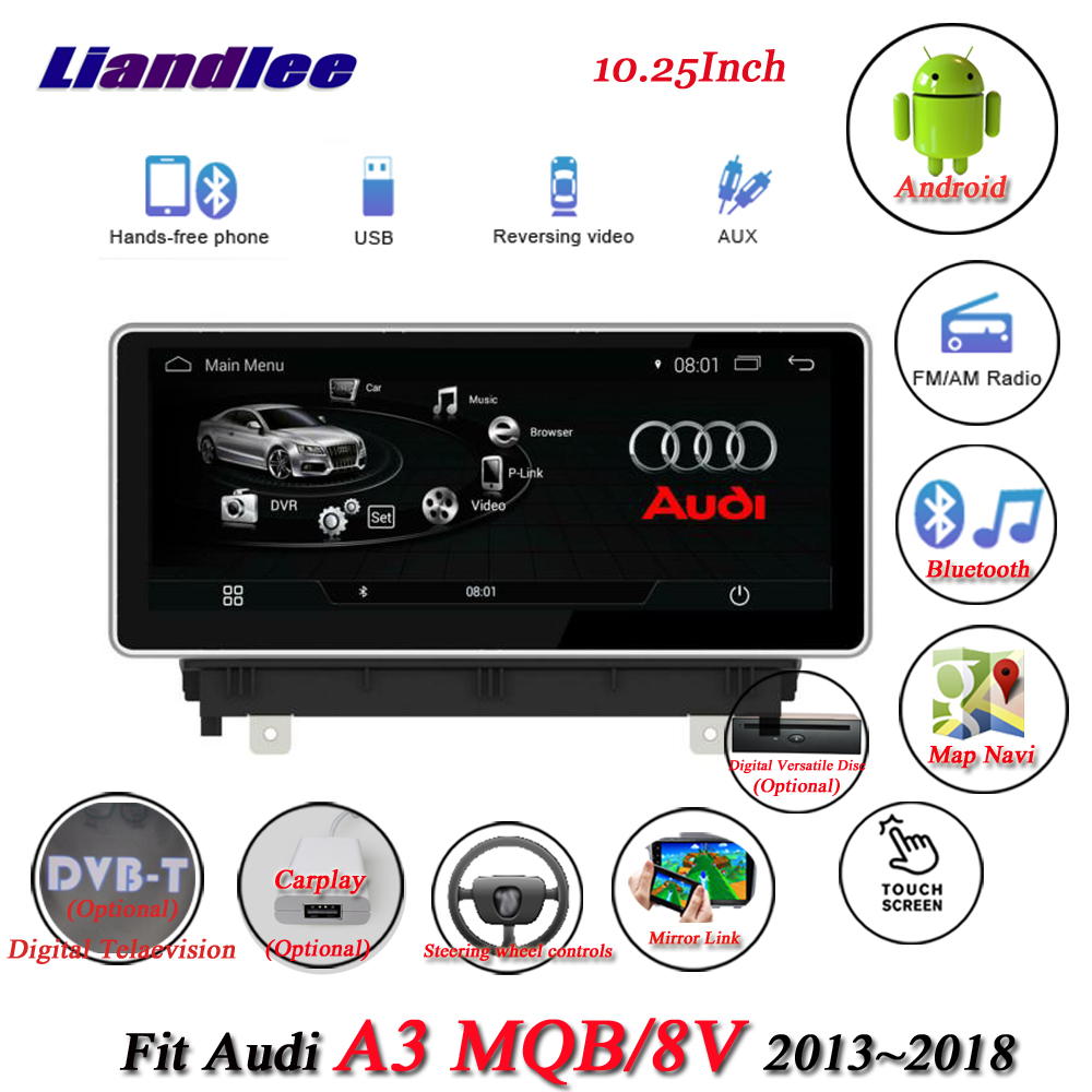 Liandlee Car Android System For Audi A3 8V 2013~2018 With AUX Radio TV BT CD DVD Player GPS Navi Navigation BT Screen Multimedia 7 android 4 2 capacitive screen car dvd player w ips gps rds wifi radio aux bt for audi a3