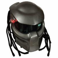 Masei 2017 New Bright Grey Matte Grey Predators Mask Helmet Fiberglass Iron Man Motorcycle Helmet Full