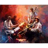 Canvas Modern Art Paintings Music Jazz Band Willem Haenraets Landscape Painting For Living Room Decor Hand