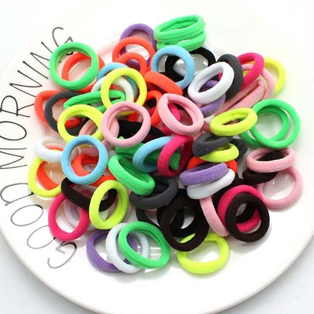 3cm 50pcs/lot Hair Accessories kids Rubber bands Scrunchie  Elastic Hair Bands Girls Headband decorations ties  Gum for hair