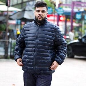 Image 3 - 7xl حجم كبير ملابس الشتاء سترة الرجال أبلى معطف مبطّن 10xl زائد 5XL 6XL 8XL 9XL سترة الذكور الملابس الدهون أسفل معطف