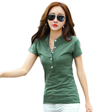 Basic T Shirt Women V-Neck Womens Tops 2017 Spring Summer Tee Shirt Women Korean Style T-Shirt Cotton New Tshirt WWQ77