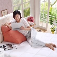 Smelov luxury adults soft big linen cotton bed cushion rectangular wedge sofa cushions lumbar support pillow reading